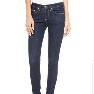Rag and bone high rise skinny heritage dark wash